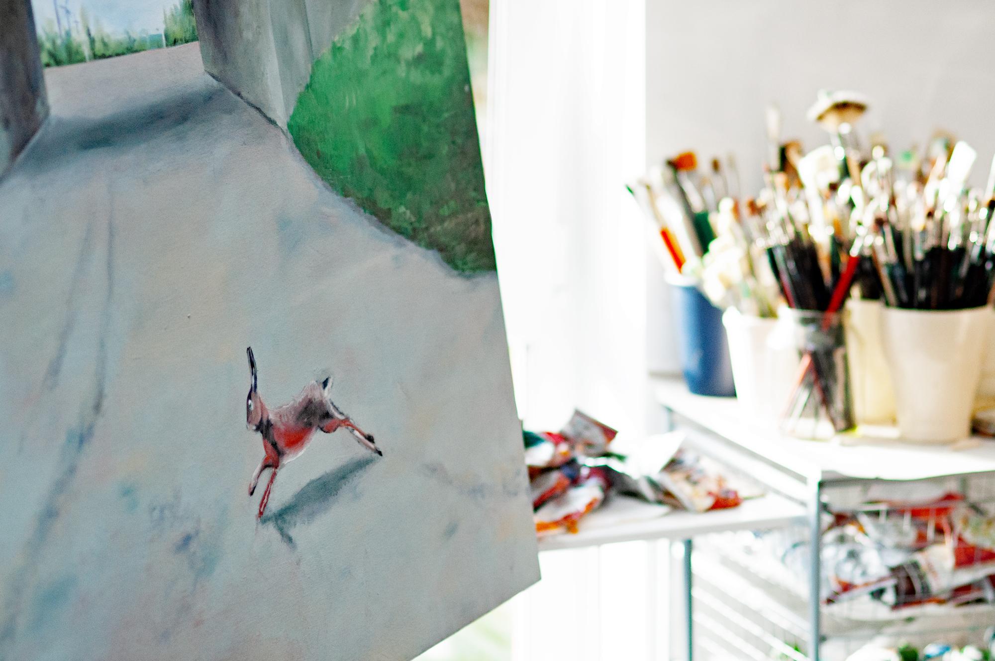 Impression aus dem Atelier von Leni Winkelmann (Foto: © 2013 Wolfgang Weßling)