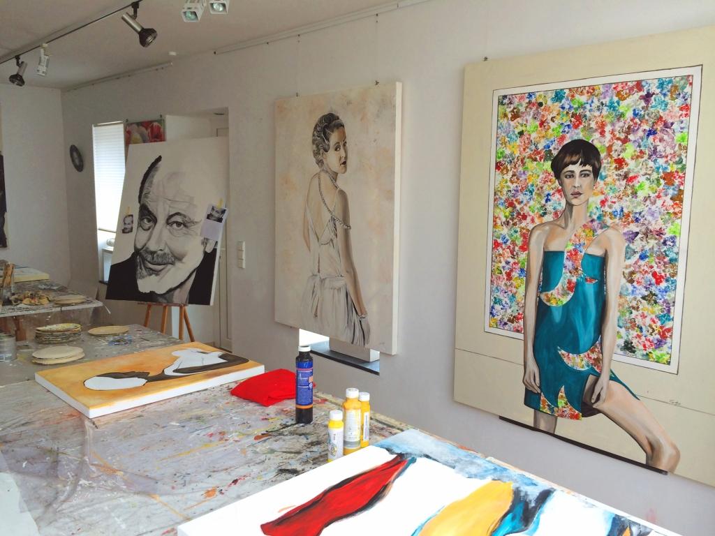 Blick in das Atelier von Christiana Fietze (Foto: © 2016 Wolfgang Weßling)